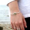 Infinity Bezel Set Hinge Bangle Bracelet