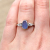 Seaside Chic Sea Glass Engagement Ring