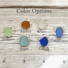 Trinity Sea Glass Ring - Choose your color