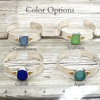 Trinity Sea Glass Cuff - Choose Your Color