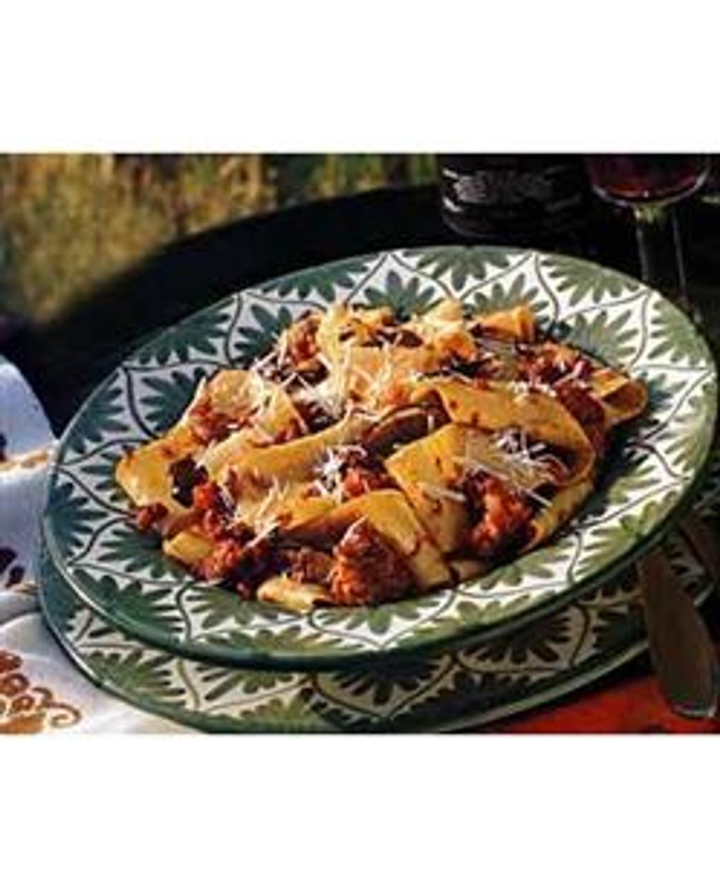 Pasta with Sausage & Porcini Ragu