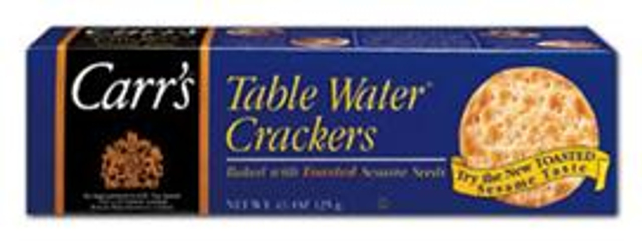 Table Water Crackers- Baked with Toasted Sesame Seeds.