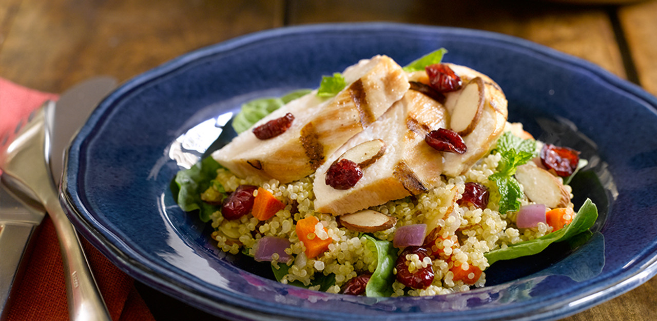 Quinoa Salad with Mint, Almonds, and Cranberries