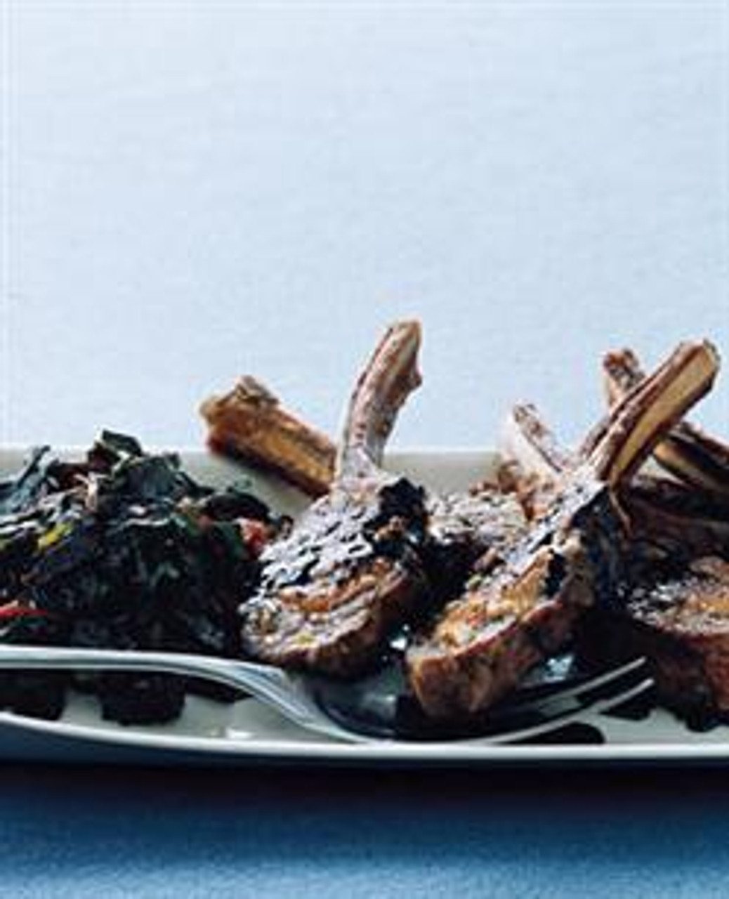 Lamb Chops with Swiss Chard & Balsamic Syrup