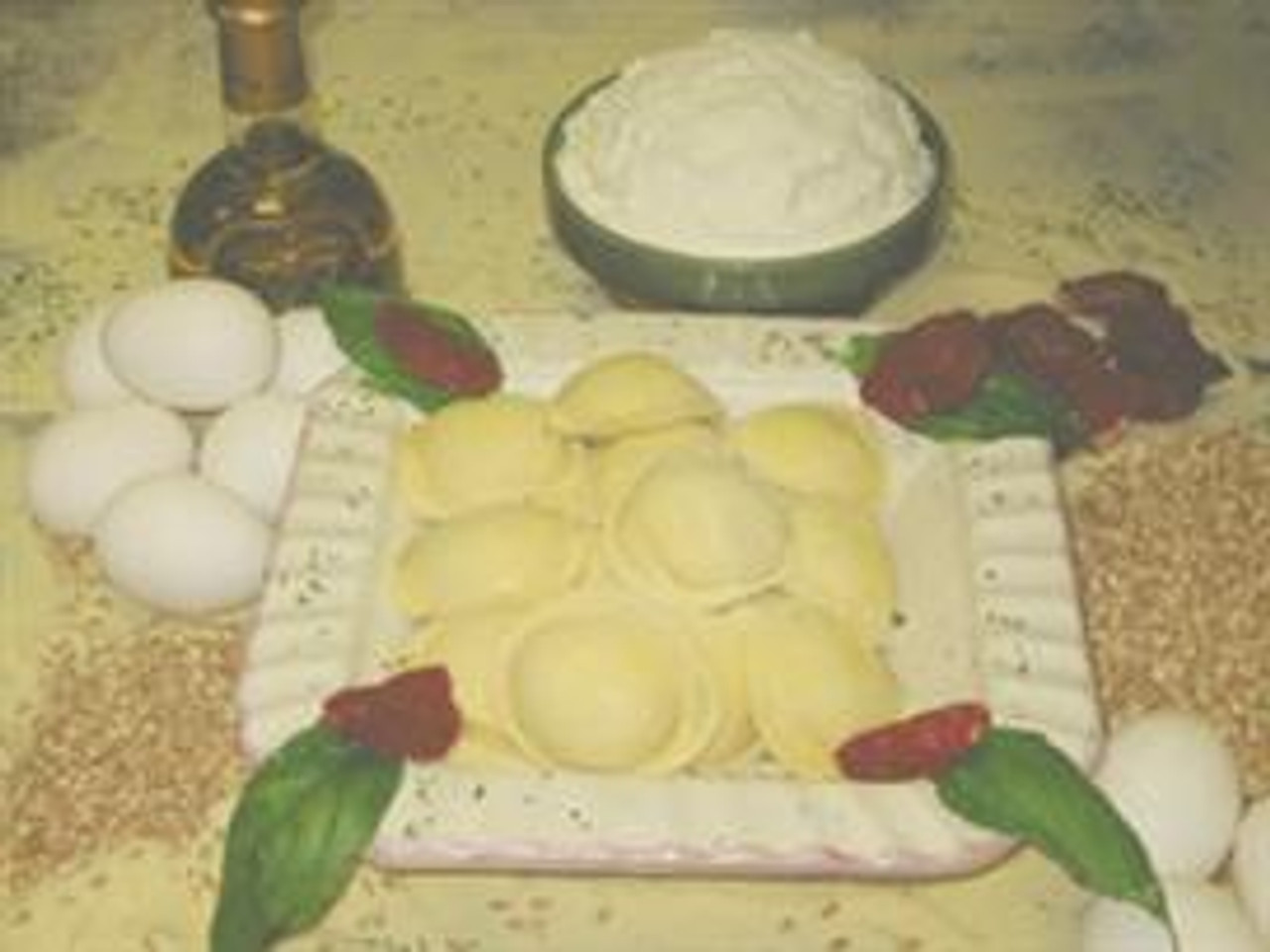 Low Fat Spinach Ravioli (Large Round)