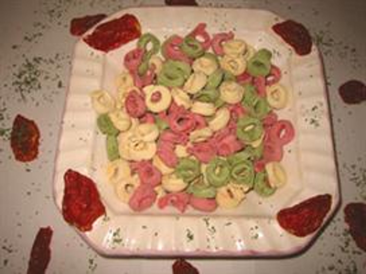 Tri-Color Tortellini with Cheese