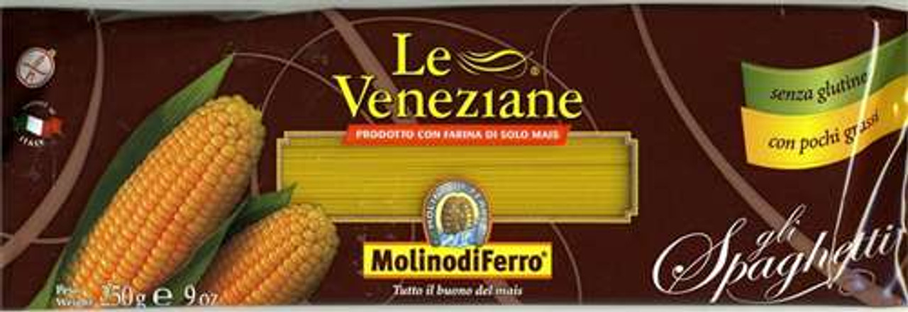 Le Veneziane Italian Gluten Free Corn Pasta Spaghetti imported