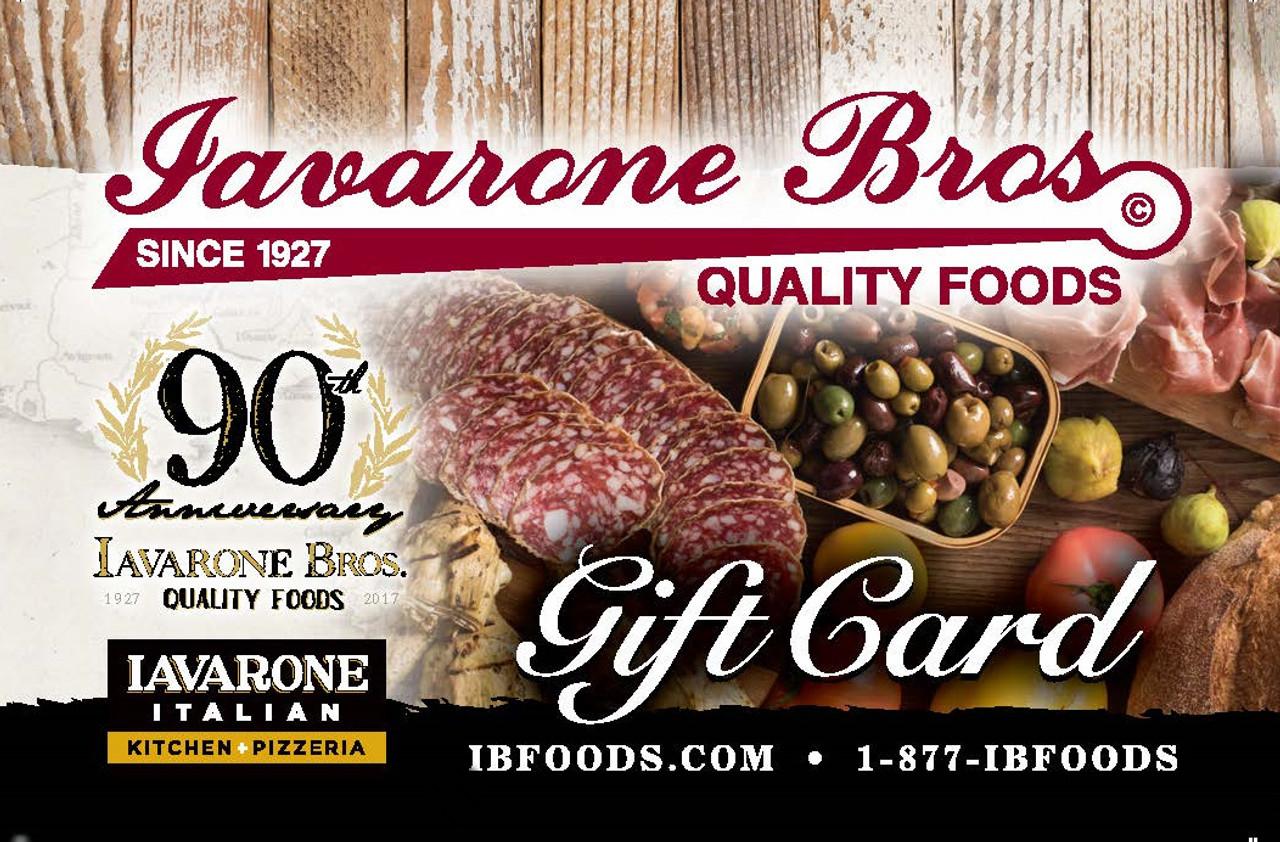 IBFoods Retail Gift Card