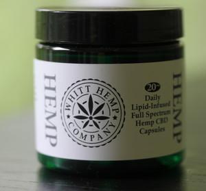 25 mg Lipid-Infused Whole Spectrum Hemp Capsules