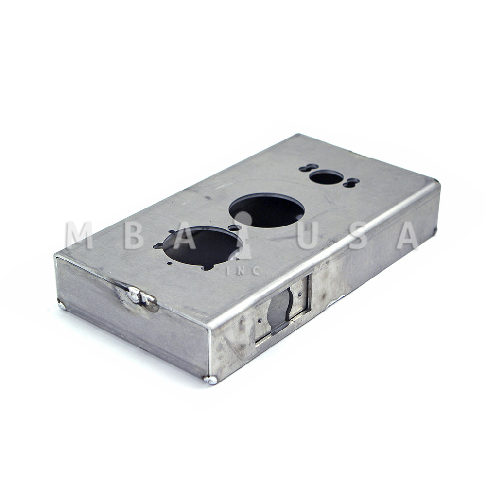 """KEEDEX K-BXSIM Weldable Gate Box,Silver,2-3//8/"""" W"""