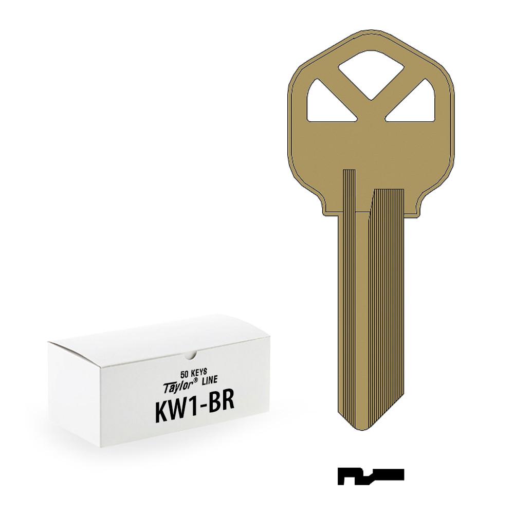 Ilco KW1-BR KW1 5 Pin Kwikset Key Blanks 50 Qty