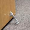 """4"""" KICK DOWN DOOR HOLDER - CLEAR (ALUMINUM)"""