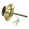 3-WHEEL LOCK, FRONT-READING DIAL & RING, KEY LOCKING PACKAGE (BRASS)