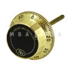 "FRONT-READING DIAL, 5/16"" SPINDLE, 3.406 DT, SPLINE ON 50 (SATIN BRASS)"