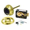 3-Wheel Lock, Front Reading Dial & Ring, Brass, Pkg
