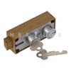 ORIGINAL MOSLER 5700 SAFE DEPOSIT LOCK, NICKEL NOSES, RECONDITIONED
