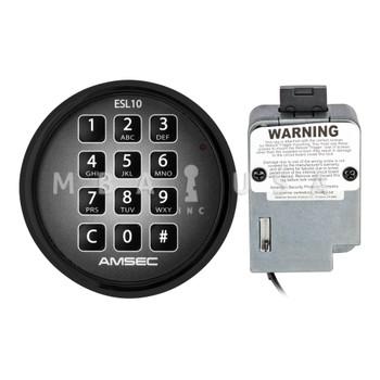 AMSEC ESL10XL DEAD BOLT LOCK PACKAGE W/ BLACK KEYPAD