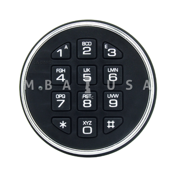 2-BATTERY KEYPAD, SATIN CHROME, KEYPAD ONLY