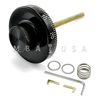"Spy Proof Dial, 5/16"" Spindle, Small Knob, Black & White, 3.406"" DT, Spline on 19, 8500 Series"