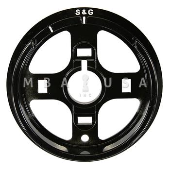 S&G DIAL RING - R162, SPY PROOF, BLACK & WHITE