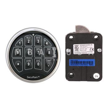 SAFELOGIC BASIC SWINGBOLT LOCK PACKAGE W/ TOP-LIT CHROME KEYPAD