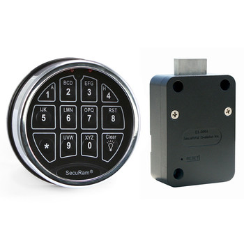 SAFELOGIC BASIC DEADBOLT LOCK PACKAGE W/ TOP-LIT CHROME KEYPAD