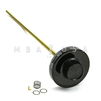 """Spy Proof Dial, 5/16"""" Spindle, Small Knob, Black & White, 13"""" DT, Spline on 19, 8500 Series"""