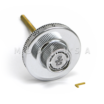 "Spy Proof Dial, 5/16"" Spindle, Small Knob, Satin Chrome, 3.406"" DT, Spline on 50"