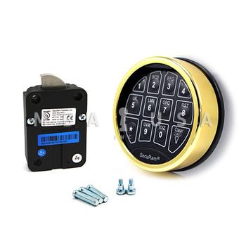 SAFELOGIC BASIC SWINGBOLT LOCK PACKAGE W/ TOP-LIT BRASS KEYPAD