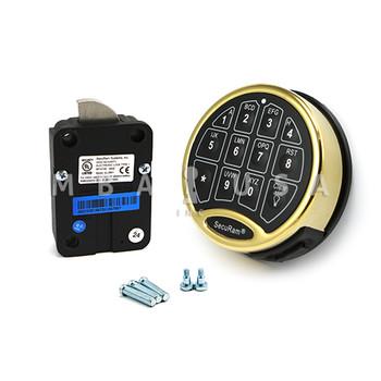 SAFELOGIC BASIC SWINGBOLT LOCK PACKAGE W/ BACK-LIT BRASS KEYPAD