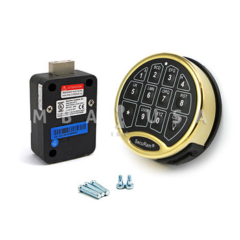 SAFELOGIC BASIC DEADBOLT LOCK PACKAGE W/ BACK-LIT BRASS KEYPAD