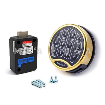 SAFELOGIC BASIC DEADBOLT LOCK PACKAGE W/ BRASS KEYPAD