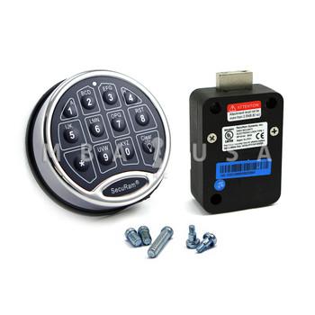 SAFELOGIC BASIC DEADBOLT LOCK PACKAGE W/ BACK-LIT CHROME KEYPAD