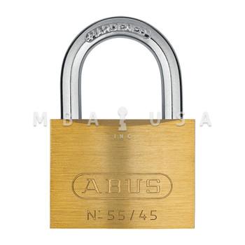 ABUS 55 SERIES 55/45 SOLID BRASS PADLOCK - KEYED ALIKE