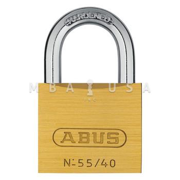 ABUS 55 SERIES 55/40 SOLID BRASS PADLOCK - KEYED ALIKE