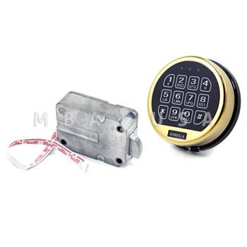 OMEGA ELECTRONIC SWINGBOLT LOCK PACKAGE W/ BRASS KEYPAD