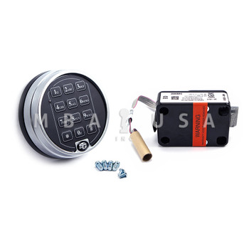 S&G 6120 SPRING BOLT LOCK PACKAGE W/ 2-BATTERY SATIN CHROME KEYPAD