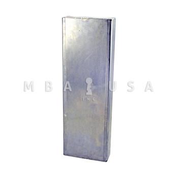 "ALUMINUM GATE BOX BLANK 15"" X 5"" X 1-3/4"""