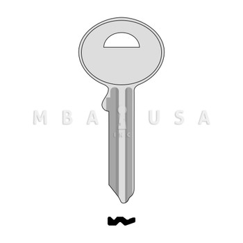 KEY BLANK 1636 FOR BUMIL SAFES
