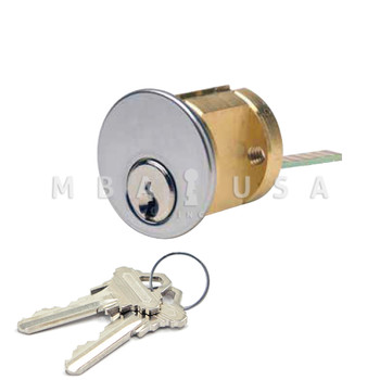 RIM CYLINDER, SCHLAGE, 5-PIN, 1 KEYED DIFFERENT, CLEAR (ALUMINUM)