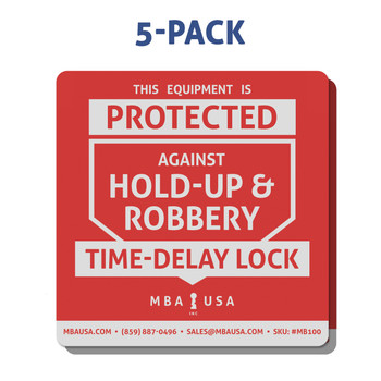 TIME-DELAY LOCK STICKER, 5-PACK