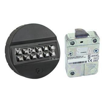 PULSE 10-USER SWINGBOLT LOCK PACKAGE W/ BLACK ABS KEYPAD