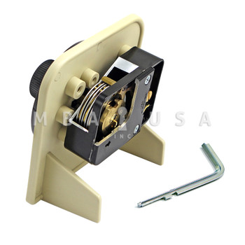 S&G MOUNTED 6730 CUTAWAY LOCK W/ D300 FRONT READING DIAL, BLACK & WHITE FINISH
