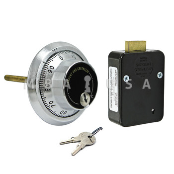 3-Wheel Lock, Front Reading Dial & Ring, Satin Chrome, Key Locking Pkg