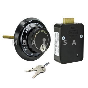 3-Wheel Lock, Front Reading Dial & Ring, Black & White, Key Locking Pkg
