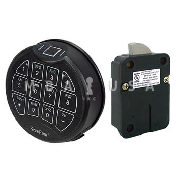 SCANLOGIC BASIC SWINGBOLT LOCK PACKAGE W/ MATTE BLACK KEYPAD