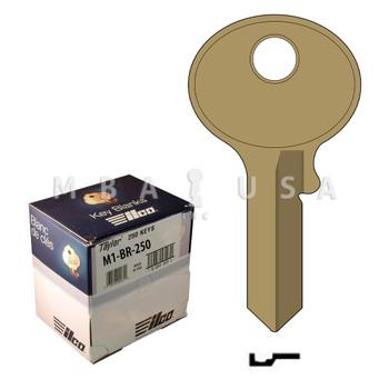 Ilco Taylor Key Blank, Master M1, Brass (250 Pack)