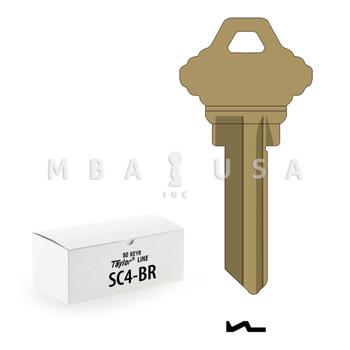 Ilco Taylor Key Blanks, Schlage SC4, Brass (50 Pack)