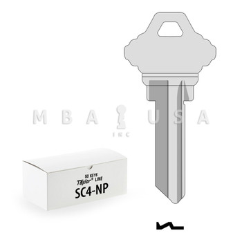 Ilco Taylor Key Blanks, Schlage SC4, Nickel Plate (50 Pack)