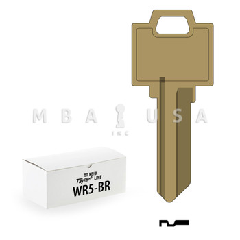 Ilco Taylor Key Blanks, Weiser WR5, Brass (50 Pack)